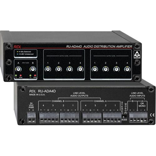 RDL RU-ADA4D - Audio Distribution Amplifier RU-ADA4D