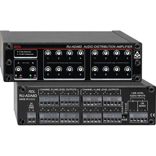 RDL RU-ADA8D - Audio Distribution Amplifier RU-ADA8D