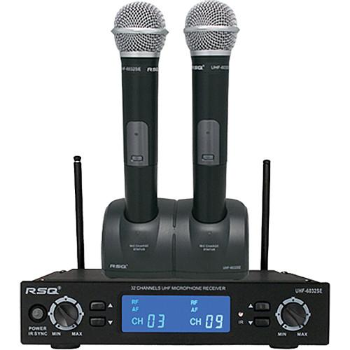 RSQ Audio UHF-6032SE Dual Rechargeable 32-Channel UHF UHF-6032SE