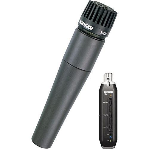 Shure X2u XLR to USB Microphone Signal Adapter and SM57 SM57-X2U