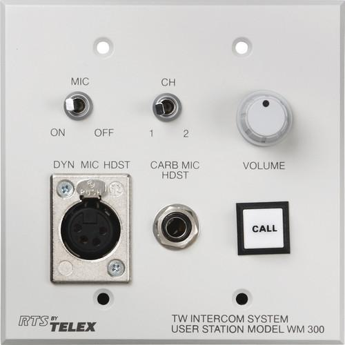 Telex WM-300L Wall Mount User Station w/ an A4F F.01U.118.501