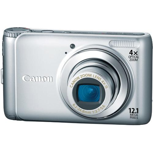 Used Canon PowerShot A3100 IS Digital Camera (Silver) 4255B028AA
