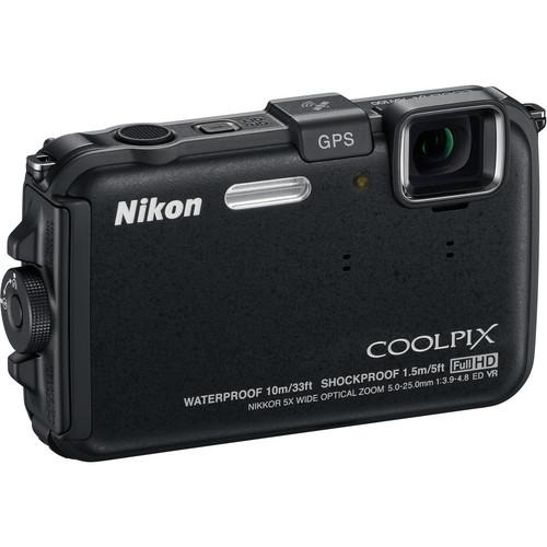 Used Nikon Coolpix AW100 Waterproof Digital Camera (Black)