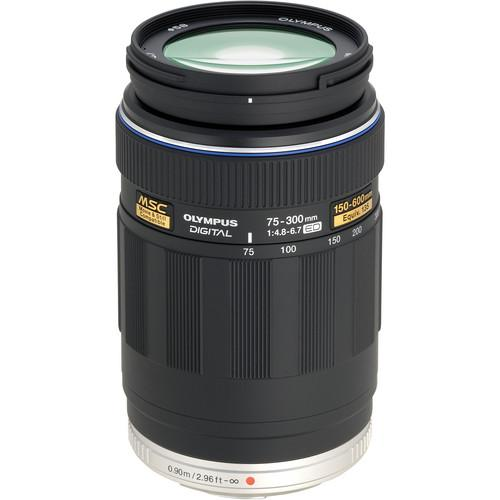 Used Olympus 75-300mm f/4.8-6.7 M.Zuiko Lens for Micro 261507B