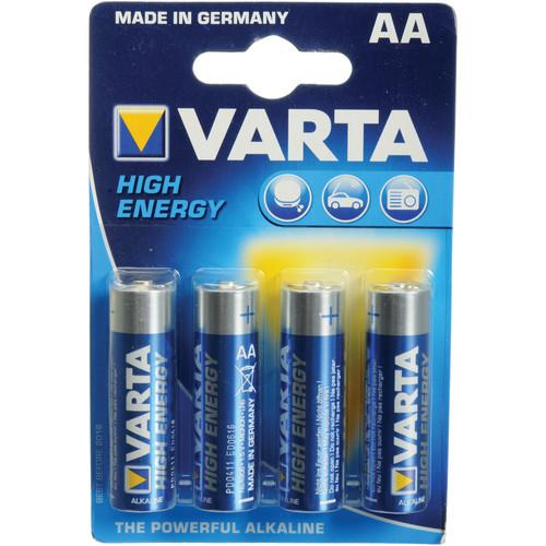 Varta High-Energy 1.5V AA LR6 Alkaline Battery V4906121414