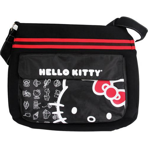 Vivitar Hello Kitty Canvas Messenger Bag (Black) 20909-BLK