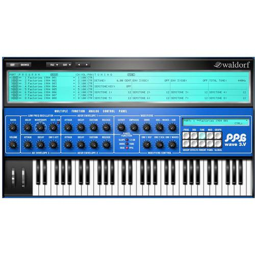 Waldorf PPG Wave 3.V Wave Synthesizer Plug-In WDF-PPG-3