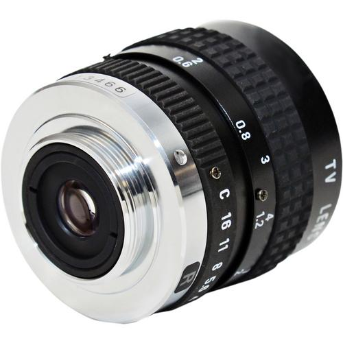 AstroScope C-Mount 25mm f1.8 Objective Lens with Iris 915229