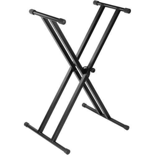 Double-Braced X-Style Stand with Headphones and
