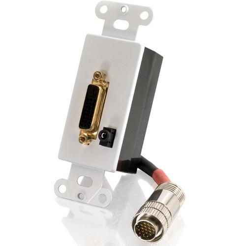 C2G 42439 Digital DVI-D and 3.5mm Audio Passive Wall Plate 42439