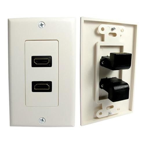 Comprehensive HDMI Wall Plate 2 Port 90 Degree WP-HM2