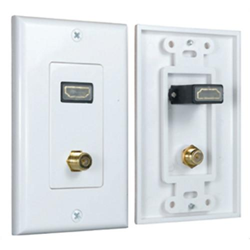 Comprehensive HDMI Wallplate 1 Port   F Connector WP-HM1-F