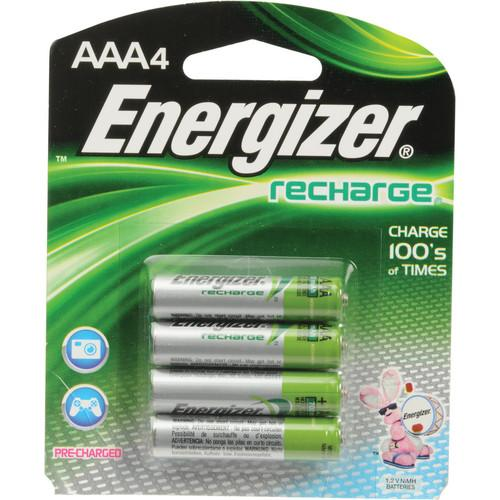 Energizer AAA NiMH Rechargeable Batteries NH12BP-4