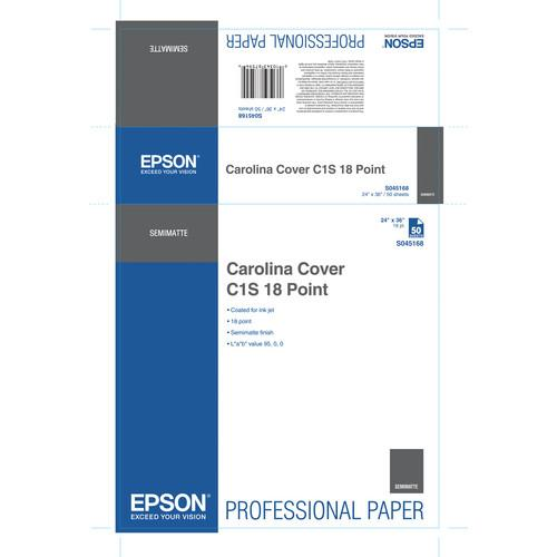 Epson S045168 Carolina Cover C1S 18 Point Proofing Paper S045168