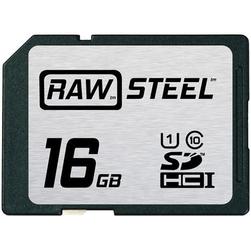 Hoodman 16GB SDHC Memory Card RAW STEEL Class 10 RAWSDHC16GBU1