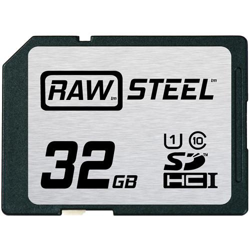 Hoodman 32GB SDHC Memory Card RAW STEEL Class 10 RAWSDHC32GBU1