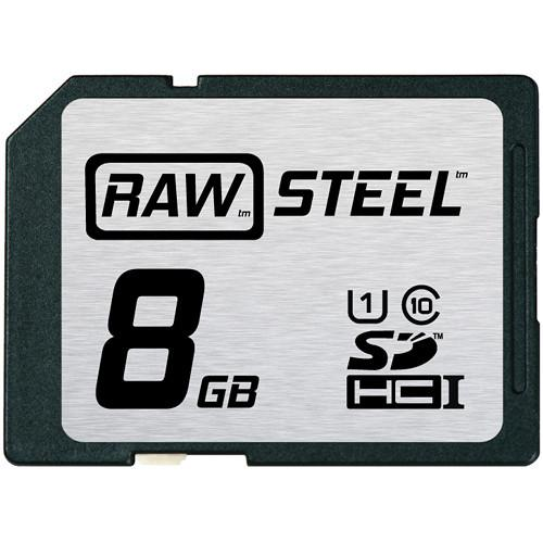 Hoodman 8GB SDHC Memory Card RAW STEEL Class 10 RAWSDHC8GBU1