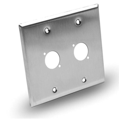 Hosa Technology Dual-Gang Wall Plate Panel - 2 Hole WPP-402Z
