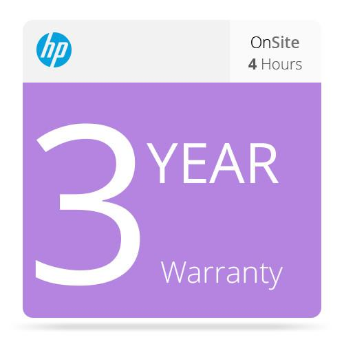 HP 3-Year 4-Hour Response 9x5 Onsite Support UF038E