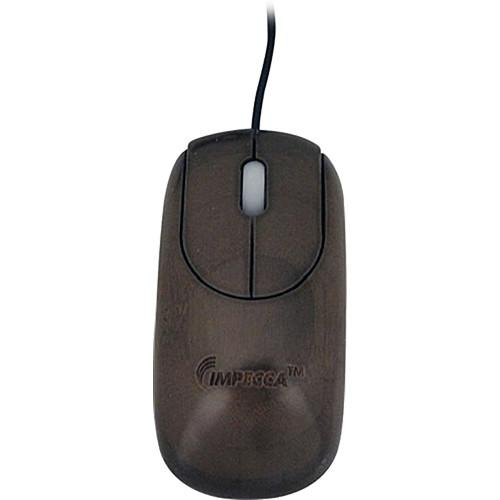 Impecca Custom Carved Designer Bamboo Mouse (Walnut) WMB103