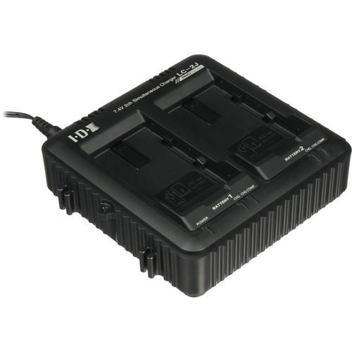 JVC LC-2J Dual Charger for SSL-JVC50 7.4V JVC Batteries LC-2J