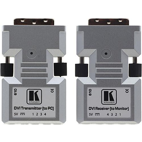 Kramer 610R/T Detachable DVI Optical Transmitter & 610R/T