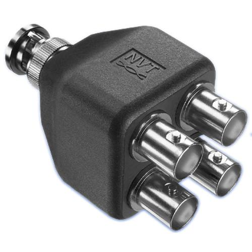 NVT NV-EC4BNC 1:4 Coax Splitter Adapter NV-EC4BNC