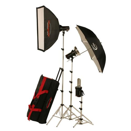 Photogenic AKC990BRK 960W/s Portrait Studio 3 Light Soft 900135