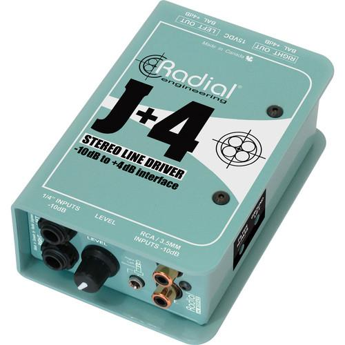 Radial Engineering J 4 Balanced Signal Driver - Stereo R800 8015