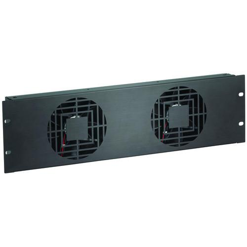 Raxxess NAF32QBA 3 U Quiet Dual Fan Panel NAF32QBA
