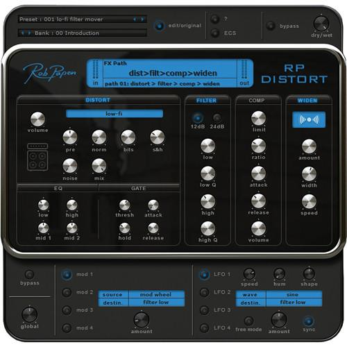 Rob Papen RP-Distort - Distortion and Effects Plug-In RPDSTRT
