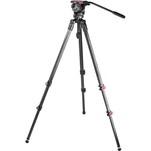 Sachtler Telescopic Tripod TT 75/2 CF with FSB 6 Fluid Head 0477