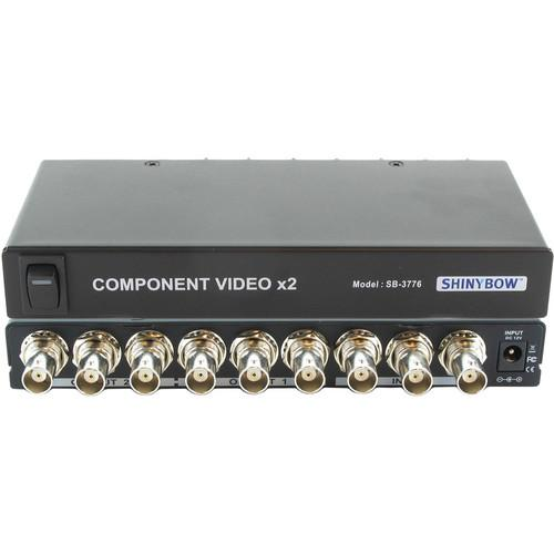 Shinybow 1 x 2 Component Video Distribution Amplifier SB-3776BNC