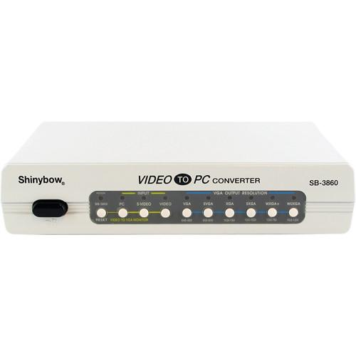 Shinybow SB-3860 Video to PC Monitor (TV to PC) Converter