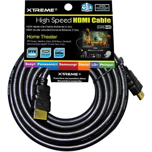 Xtreme Cables High-Speed v1.4 HDMI Cable on Hang Card - 75'