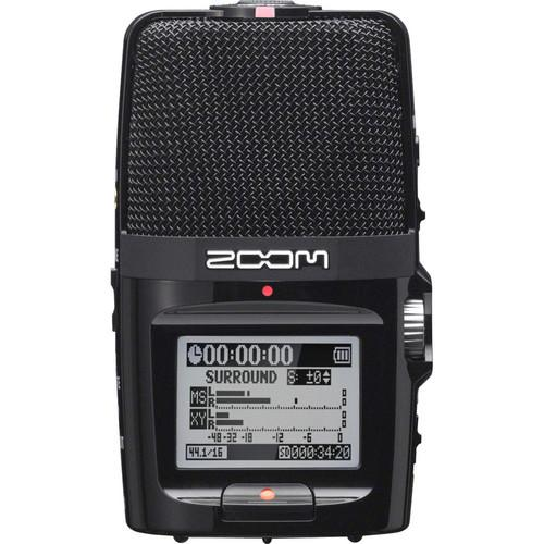 Zoom H2n Recorder with Custom-Tailored Windscreen and Remote