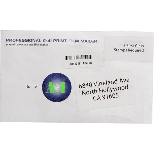 A&I Processing and Printing Mailer for 35mm Color Negative C4135