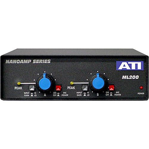 ATI Audio Inc ML200 - Dual Mic to Line Amplifier ML200