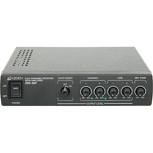 Azden IRR-40P 2-Channel Infrared Receiver with Amplifier IRR-40P