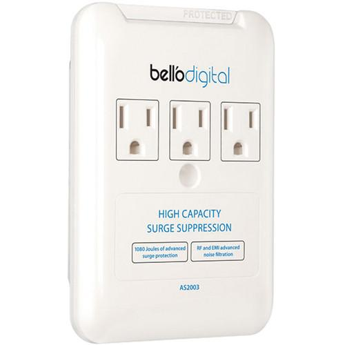 Bell'O 3 Outlet Appliance Surge Protector (White) AS2003
