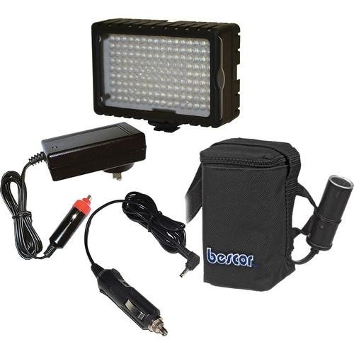 Bescor LED-125 On-Camera Light with HP-3NC Battery / LED-125B