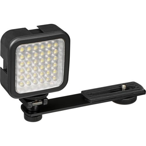 Bescor LED-40 On-Camera Light with Vello Multi-Function Ball
