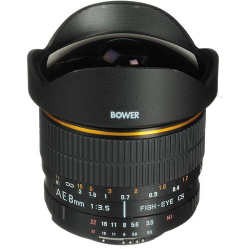 Bower 8mm Super Wide Angle f/3.5 Fisheye Lens w/Focus SLY358AE