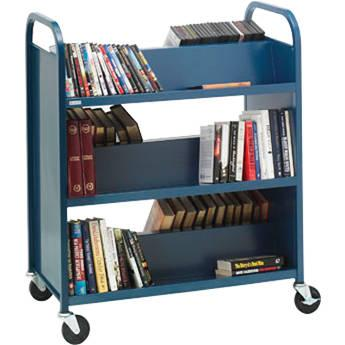 Bretford 6-Shelf Heavy-Duty Steel Booktruck (Raven) V336-RN