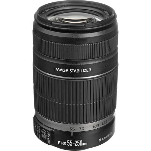 Canon EF-S 55-250mm f/4-5.6 IS II Lens (White Box) 2044B002
