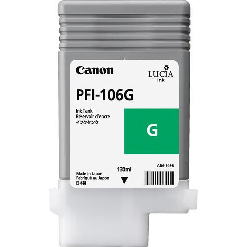 Canon PFI-106 Green Ink Cartridge (130 ml) 6628B001AA