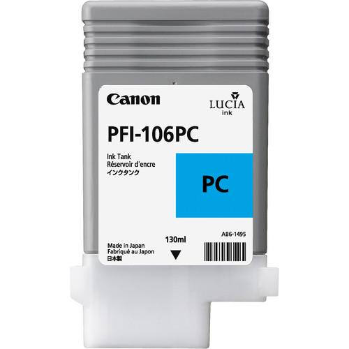 Canon PFI-106 Photo Cyan Ink Cartridge (130 ml) 6625B001AA