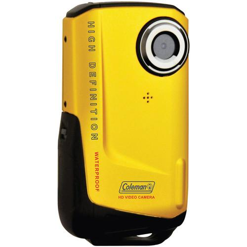 Coleman Waterproof HD Pocket Video Camera (Yellow) CVW9HD-Y
