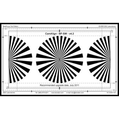 DSC Labs DX-1 BackFocus Calibration Chart CDX1-10W