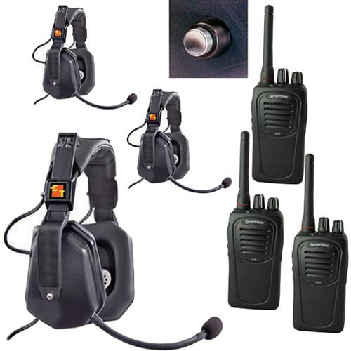 Eartec 3-User SC-1000 Two-Way Radio with Ultra Double UDSC3000SH